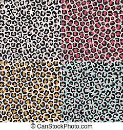leopardenfell, seamless, gepard