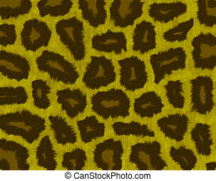 leopardo, pelliccia, struttura