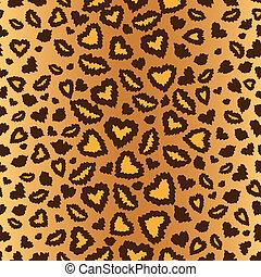 leopardo, seamless, fondo, pelle