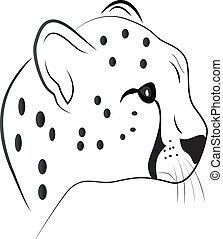 leopardo, tatuaje