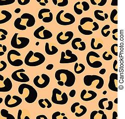 leopardo, vector, seamless, textura