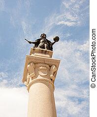Leopold I statue, Holy Roman Emperor column - Piazza della ...