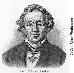 Leopold von Ranke - Picture from Meyers Lexicon books ...