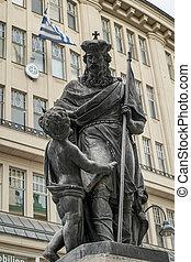 Leopolds Fountain at Graben Street in Vienna