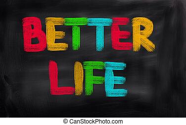 lepší, živost, pojem