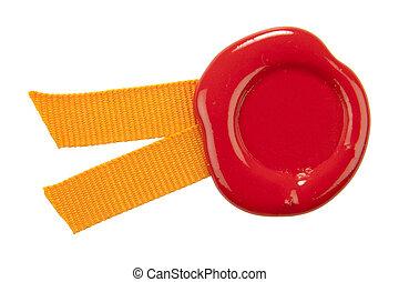 lepecsétel viaszol, noha, ribbons.