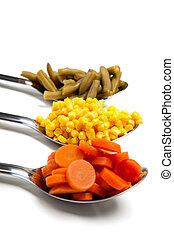 lepels, groentes