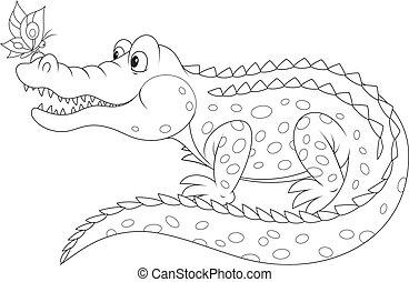lepke, krokodil