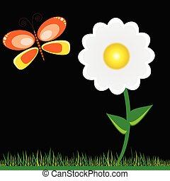lepke, virág, vektor