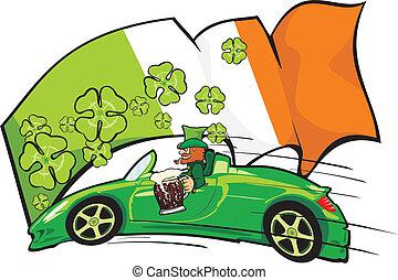 leprechaun, 運転手, 背景