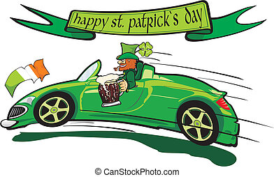 leprechaun  and happy st. patrick`s