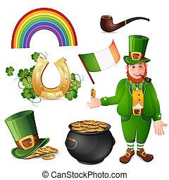 Leprechaun and Saint Patrick's Day