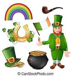 Leprechaun and Saint Patrick's Day