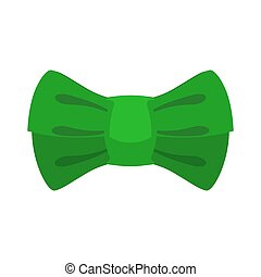 leprechaun bow tie Green. Traditional accessory fairy gnome in Ireland. St. Patrick's Day national holiday. Traditional Irish Festival