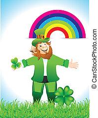 Leprechaun Cartoon With Clove