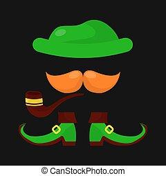 Leprechaun elf for Saint Patrick day Irish holiday vector