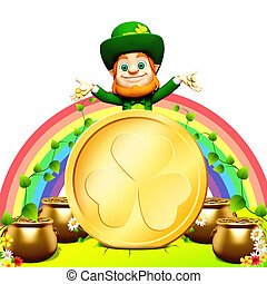 Leprechaun for st. patrick day - 3d rendered illustration of...