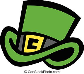 Leprechaun Green Top Hat Vector Icon