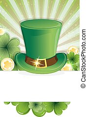 Leprechaun hat and gold coins