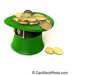 Leprechaun Hat filled with gold
