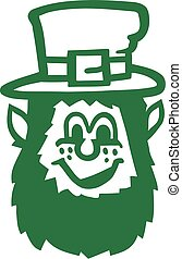 Leprechaun head cartoon