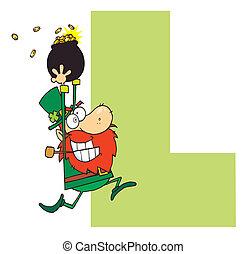 Leprechaun - Letter L With A Leprechaun