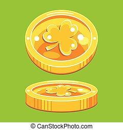 leprechaun lucky gold coins