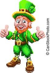 Leprechaun Retro 8 Bit Arcade Video Game Pixel Art