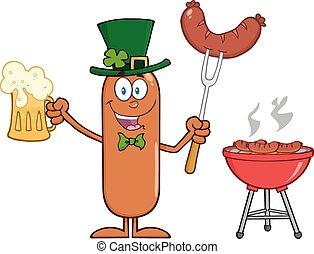 Leprechaun Sausage Character