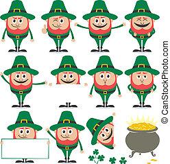 Leprechaun Set - Leprechaun in 11 different poses and his...