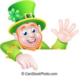 Leprechaun St Patricks Day Cartoon