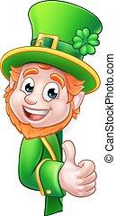 Leprechaun St Patricks Day Cartoon Mascot - Cartoon...