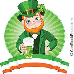 Leprechaun Toast - Leprechaun Raises A Glass To Celebrate...