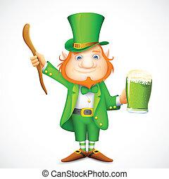 Leprechaun wishing Saint Patrick's day