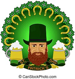 Leprechaun with beer to St. Patrick's Day