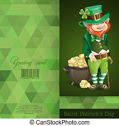 Leprechaun With Pot Of Gold.