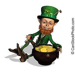 Leprechaun with Treasure