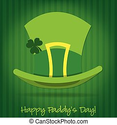 Leprechaun's hat St Patrick's Day card in vector format.
