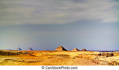 lepsius, エジプト, saqqara, userkaf, teti, 外面, ピラミッド, 光景