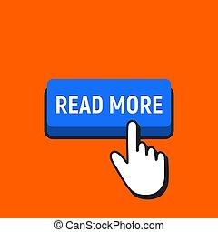 ler, button., mão, cursor, cliques mouse, mais