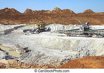 lera, gruvdrift