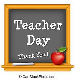 leraar, dag