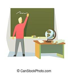 leraar, in, een, klaslokaal