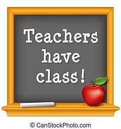 leraren, hebben, class!