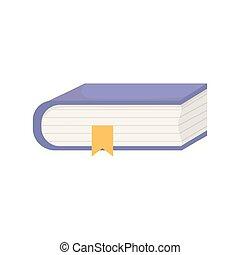 leren, bladwijzer, opleiding, online, boek