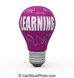 leren, concept, bol, licht