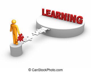 leren, concept