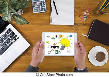 leren, leren, opleiding, studerend , concept
