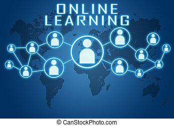 leren, online