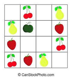 leren, velen, spel, hoe, getallen, task., wiskunde, children., wiskunde, objects., telling, preschool, logic.